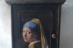 szafka na klucze z dziewczyną z perłą