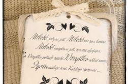 ~Od Ani~ Szyld Cytat Motto Tabliczka z napisem  ... o Miłości... MIŁOŚĆ