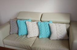 Komplet 5 poduszek z warkoczami