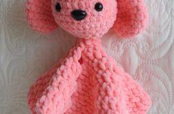 Zajączek kocyk różowy