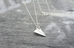 Srebrny Naszyjnik Samolot Origami, srebro 925