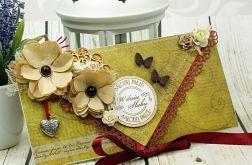 Kartka ślubna- vintage LOVE
