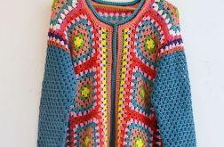 Rozpinany kolorowy sweter