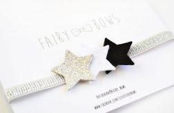FairyBows opaska trzy gwiazdki ze srebrnym