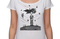 Wietrzna - koszulka oversize - biała