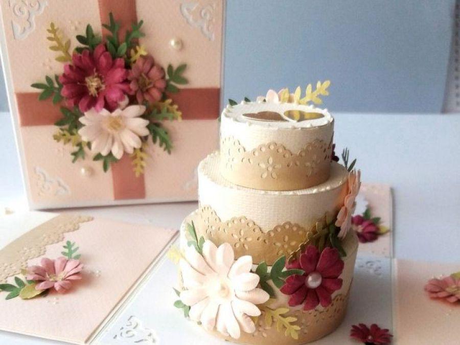 Pudełko z tortem dla Młodej Pary