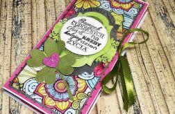 Czekoladownik-kartka na czekoladkę z cytatem