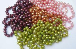 Perły słodkowodne Sznur pereł, mix kolorów