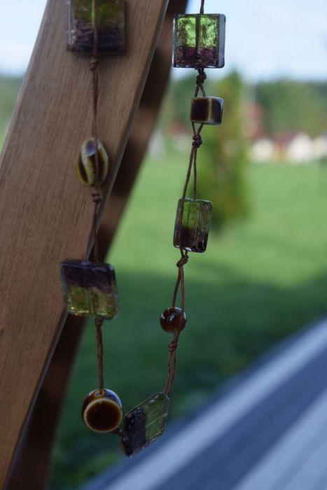 Długi naszyjnik- szkło weneckie,porcelana