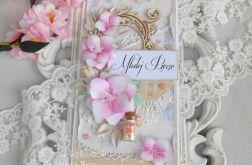 Ślubna kartka DL w pudełku z okienkiem 38