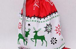 Świąteczny worek prezentowy ozdoba kominkowa