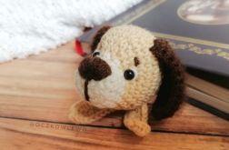 Zakładka do książek - Szydełkowa - Pies II