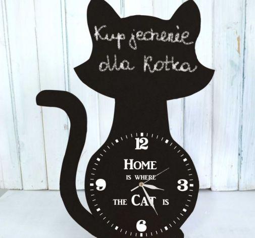 Zegar Tablica do Pisania Stojący Kot