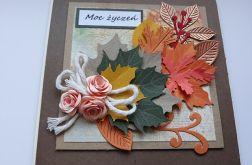 Kartka na różne okazje w jesiennych barwach