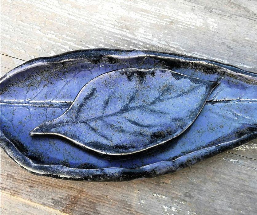 Komplet 2 ceramicznych liści (c9)