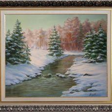 Zimowa Pora, ręcznie malowany