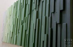 """Obraz drewniany 3D Mozaika """"Zielony spokój"""""""