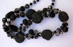 Mix kamieni, czarny naszyjnik
