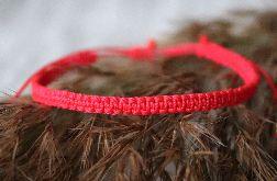 Relva czerwona bransoletka pleciona