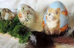 Kocie jaja z wiecznym zielonym chrobotkiem