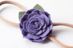 Opaska do włosów kwiatuszek lawendowy