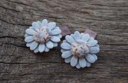 BLUE Spineczki do włosów kwiatki