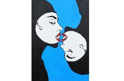 OBRAZ portret kobiet cyrkonie akryl