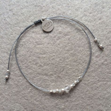 Crystal Ice bransoletka labradoryt kryształ