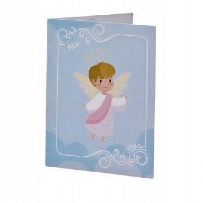 Szklany Anioł Witrażowy Chrzest Urodziny