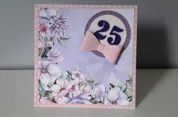 Kartka na urodziny kokarda