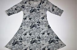 Sukienka z rękawem 3/4 rozmiar 110 (6201703)
