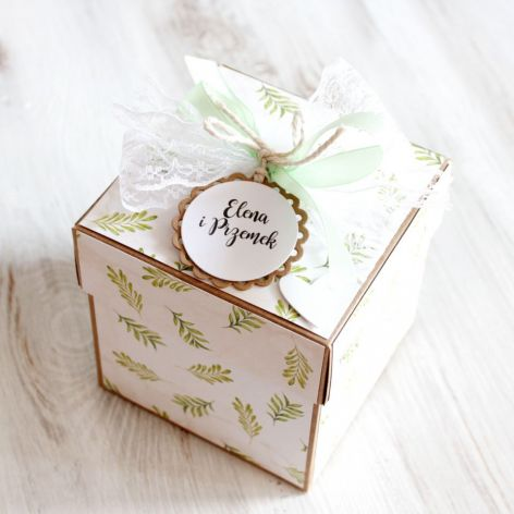 Pudełko - exploding box -ślub 1