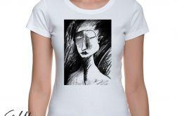Szkic - t-shirt damski - różne kolory