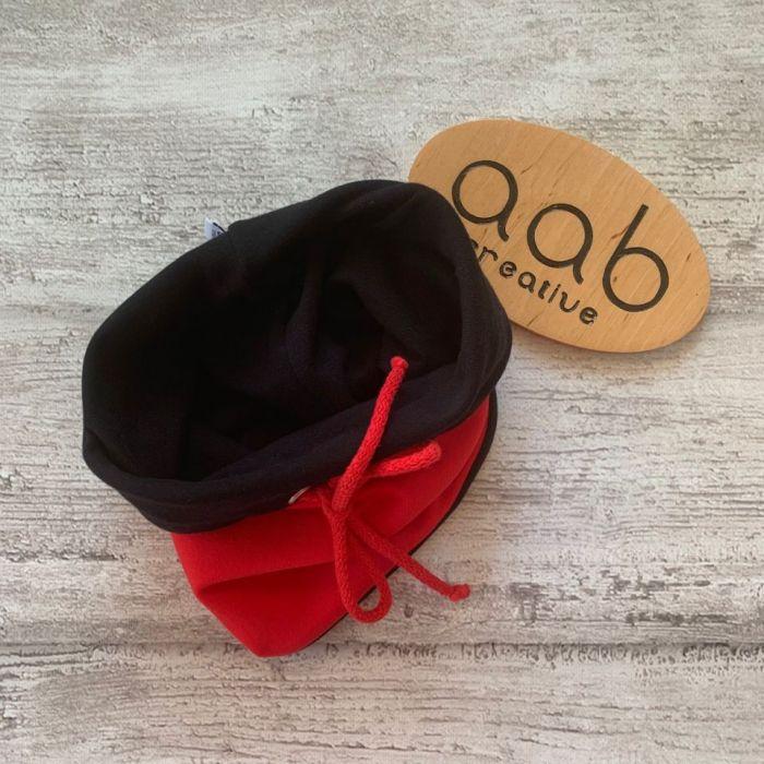Komin dwukolorowy 47-52 cm czarno-czerwony