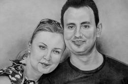 Portret ze zdjęcia A4 (ołówek/sepia)