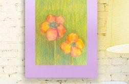 Rysunek kwiaty na fioletowym tle nr 20 szkic