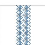Jaśki z haftem łemkowskim krzyżykowym - wzór 2 zbliżenie