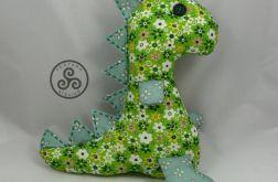 Zielony dinozaur w kwiatki