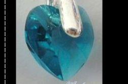 kolczyki blue zircon ab