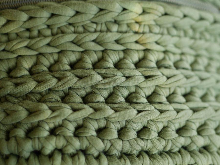 Torebka tylu nerka ręcznie zrobiona ze sznurka - Z telefonem