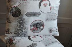 Poszewka świąteczna z wiktoriańskimi motywami