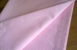Lambrekin różowy w kropeczki
