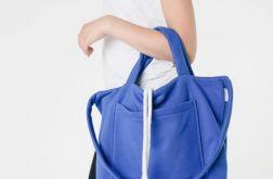 torba na ramię bawełniana kobaltowa