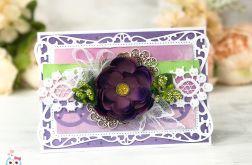 Elegancka kartka w odcieniach fioletu