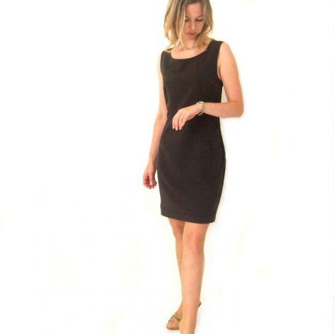 wizytowa suknia brąz