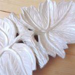 Rękodzieło - Rzeźbione liście - drewno -
