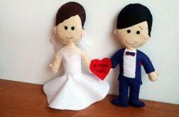 Para Młoda prezent na ślub, wesele, upominek Serce Gratis