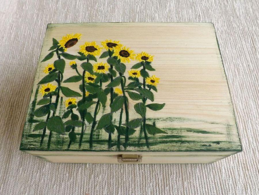 Herbaciarka malowana 6 przeg. - Słoneczniki