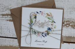 Kartka ślubna z kopertą - życzenia i personalizacja 1v