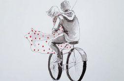 """""""Z miłością im po drodze"""" romantyczny obrazek"""